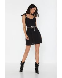 "Nasty Gal ""get Out Of My Broderie Mini Dress"" - Black"