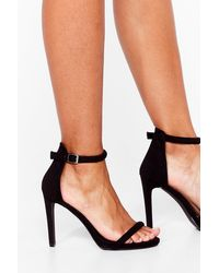 Nasty Gal Strappy To See You Wide Fit Stiletto Heels - Black