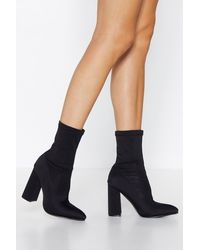 """Nasty Gal """"it's A Long Way To The Top Sock Boot"""" - Black"""