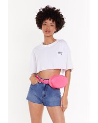 """Nasty Gal """"want Move In My Direction Chevron Belt Bag"""" - Pink"""