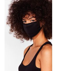 Nasty Gal All Mouth 2-pc Fashion Face Mask Set - Black