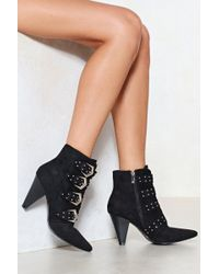 Nasty Gal - Been And Cone Studded Bootie - Lyst