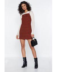 Nasty Gal - Just A Check Mini Dress - Lyst