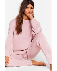 Nasty Gal Lounge What I Was Looking For Jumper And Jogger Set - Pink