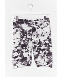 Nasty Gal And What Do You See Tie Dye Shorts - Black