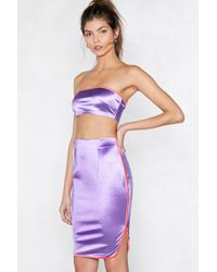 "Nasty Gal - ""sporting A Winner Bandeau Top And Skirt Set"" - Lyst"