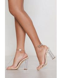 Nasty Gal - Let's Be Clear Heel - Lyst