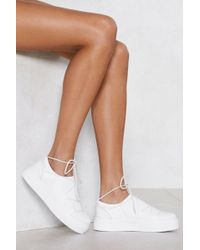 Nasty Gal - Lace-up To No Good Sneaker - Lyst