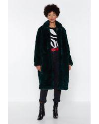 Nasty Gal - At A Loss Fur Words Faux Fur Coat - Lyst