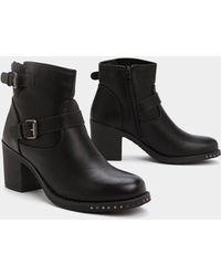 """Nasty Gal """"heel It In Buckle Boot"""" - Black"""