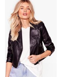 Nasty Gal Hello Moto Faux Leather Jacket - Black
