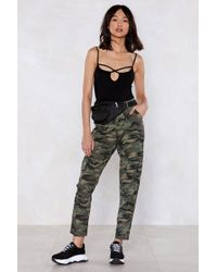 Nasty Gal - Never Discrete Camo Trousers - Lyst