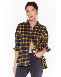 """Nasty Gal """"check Out Time Relaxed Plaid Shirt"""" - Multicolour"""