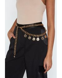 """Nasty Gal """"chain Belt With Lobster Clasp Closure """" - Metallic"""