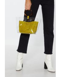 Nasty Gal - Want Fly Off The Handle Resin Pouch Bag - Lyst