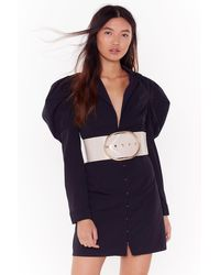 """Nasty Gal """"when Love Takes Oversized Croc Faux Leather Belt"""" - Multicolour"""