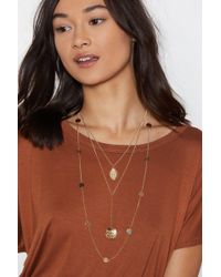 Nasty Gal - Coin Together Soverign Necklace - Lyst