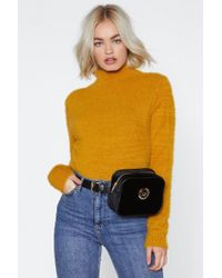 Nasty Gal - Lose Touch Velvet Fanny Pack - Lyst