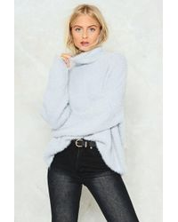 Nasty Gal - Knit's A Miracle Turtleneck Sweater - Lyst
