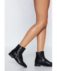 Nasty Gal - Take A Zip On The Wild Side Ankle Boot - Lyst