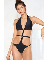 Nasty Gal - What Rings You Here Strappy Swimsuit - Lyst