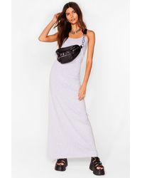 Nasty Gal Keep Things Simple Relaxed Maxi Dress - Grey