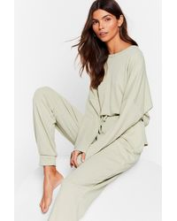 Nasty Gal Be More Chill Joggers Lounge Set - Natural