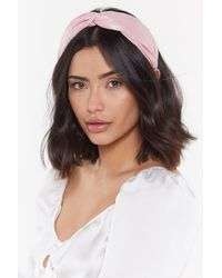 Nasty Gal Use Your Head Wide Knot Headband - Pink