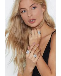 """Nasty Gal - """"etch For More 3-pc Ring Set"""" - Lyst"""