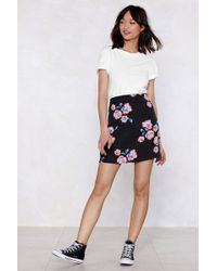 Nasty Gal - Chill Babe Floral Skirt - Lyst