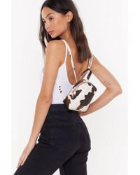 """Nasty Gal """"want Cow Will I Know Mini Backpack"""" - Multicolor"""