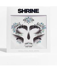 Nasty Gal Shrine No Tricks Skeleton Full Face Jewels - Metallic