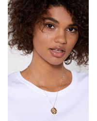 Nasty Gal - Gemini Star Sign Necklace - Lyst