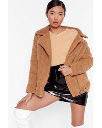 """Nasty Gal """"teddy Oh Baby Faux Fur Coat"""" - Brown"""