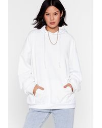 """Nasty Gal """"now It's Pullover Oversized Hoodie"""" - White"""
