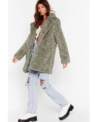 "Nasty Gal ""wait Fur It Faux Fur Longline Coat"" - Multicolor"
