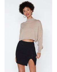 "Nasty Gal ""high-waisted Bodycon Mini Slit Skirt"" - Black"
