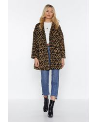 Nasty Gal - This Ones Fur You Leopard Coat - Lyst