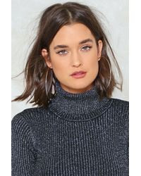 Nasty Gal - Thrown For A Hoop Earrings - Lyst