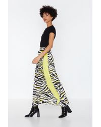 """Nasty Gal """"ahead Of The Pack Zebra Wrap Skirt"""" - Multicolor"""