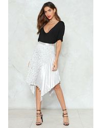 Nasty Gal - Metallic Pleated Midi Skirt Metallic Pleated Midi Skirt - Lyst