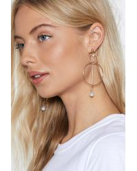 """Nasty Gal - """"you Pin Some You Lose Some Circle Earrings"""" - Lyst"""