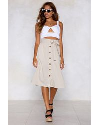 """Nasty Gal - """"keep It Together Button Skirt"""" - Lyst"""