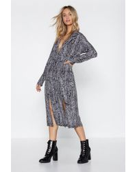 Nasty Gal - Shed Your Past Snake Dress - Lyst