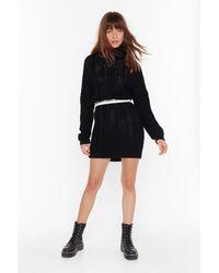 """Nasty Gal """"asking For Knit Turtleneck Sweater Dress"""" - Black"""
