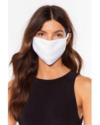 Nasty Gal Masque Facial Fashion Motus Et Bouche Cousue - Blanc