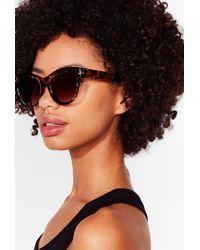 Nasty Gal Wild Torts Oversized Square Sunglasses - Neutre