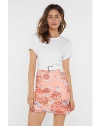 Nasty Gal Dragon Queen Floral Bodycon Skirt - Pink