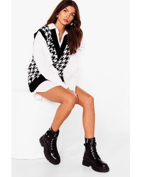 Nasty Gal Pocket To It Faux Leather Biker Boots - Black