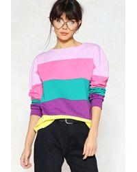 Nasty Gal - Stripe Around The Corner Sweater - Lyst